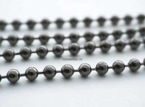 Фото цепочка стальная цвет черный никель