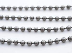 Фото цепочка стальная цвет серый никель
