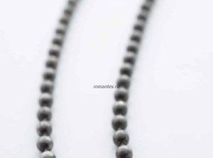 Фото Цепочка стальная в цвете серый никель