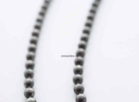 Цепочка стальная в цвете серый никель