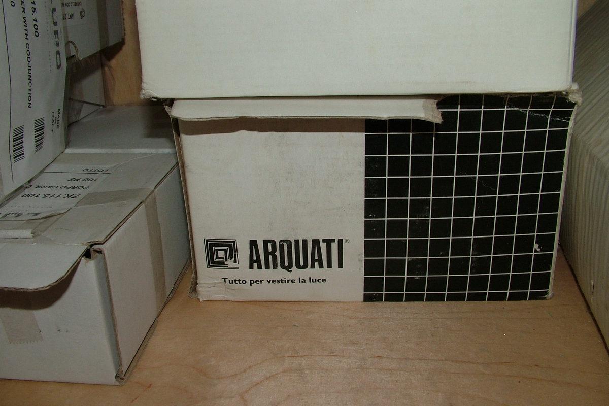 Фото упаковка комплектующих Arquati