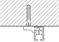 Карниз с механизмом Ронде потолочное крепление