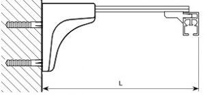 Карниз с механизмом Ронде стеновое крепление