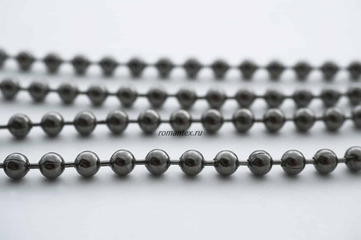 Фото черный никель цепь шариковая