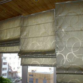 Фото римской шторы на карнизе romantex