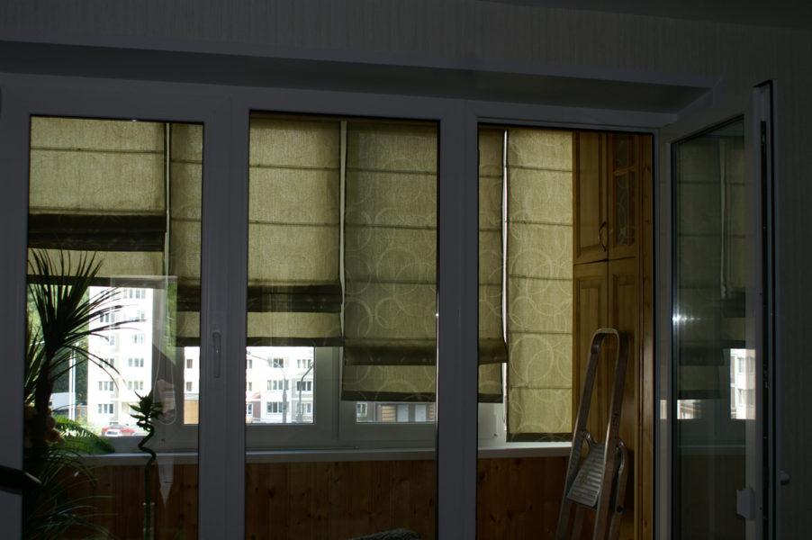 Фото римские шторы