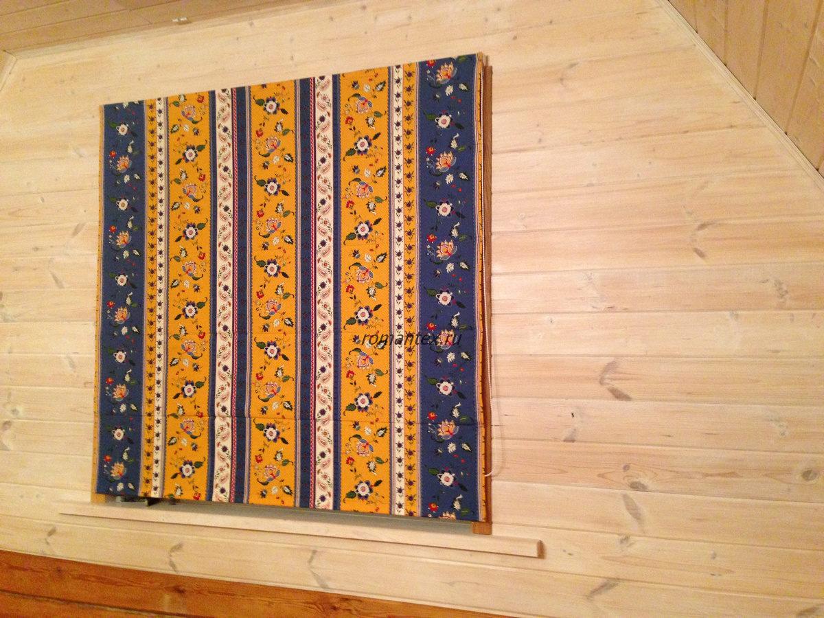 Фото римские шторы в деревянном доме