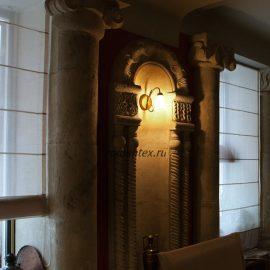 Фото Римские шторы в кафе
