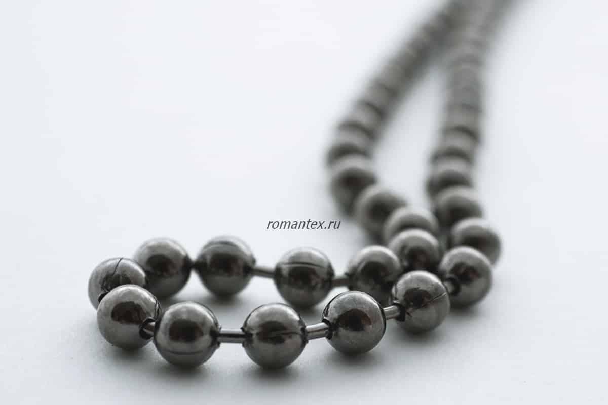 Фото цепочка черный никель стальная